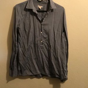 J crew chambray popover shirt medium